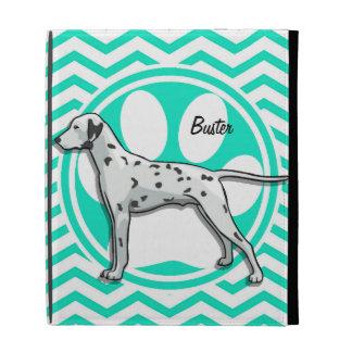 Dalmatian Aqua Green Chevron iPad Cases