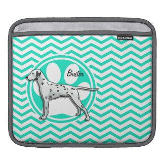 Dalmatian Aqua Green Chevron iPad Sleeve