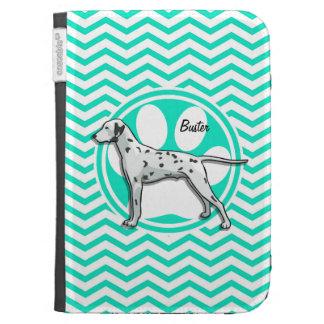 Dalmatian Aqua Green Chevron Kindle 3 Covers