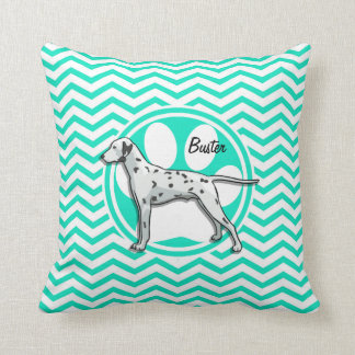 Dalmatian Aqua Green Chevron Pillows