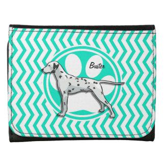 Dalmatian Aqua Green Chevron Wallets