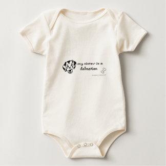 dalmatian baby bodysuit