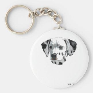 Dalmatian Basic Round Button Keychain