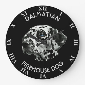 Dalmatian Black And White Firehouse Dog Wallclocks