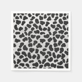 Dalmatian Black and White Print Disposable Napkins