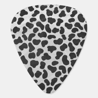 Dalmatian Black and White Print Guitar Pick
