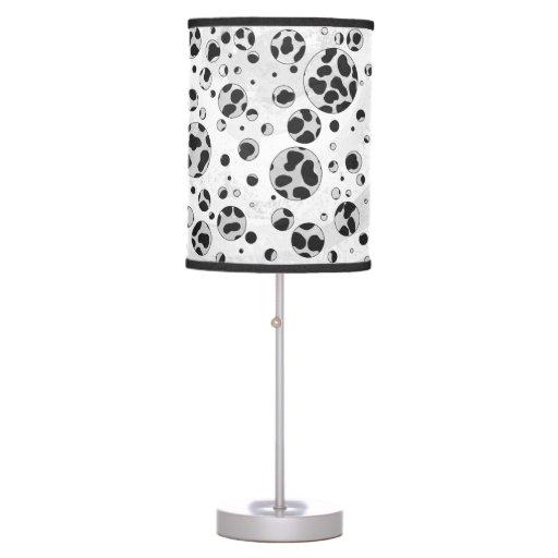 Dalmatian Black and White Print Table Lamps