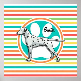 Dalmatian Bright Rainbow Stripes Posters