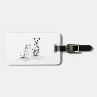 Dalmatian Canine Art Dog Drawing Luggage Tag