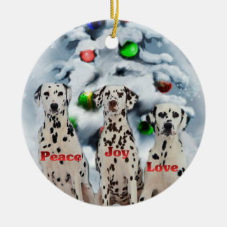 Dalmatian Christmas Gifts Ornaments