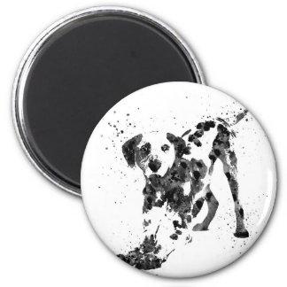 Dalmatian, Dalmatian dog, watercolor Dalmatian Magnet