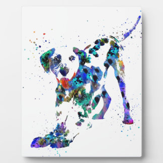 Dalmatian, Dalmatian dog, watercolor Dalmatian Plaque