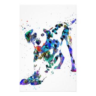 Dalmatian, Dalmatian dog, watercolor Dalmatian Stationery