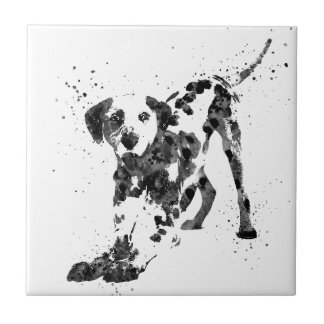 Dalmatian, Dalmatian dog, watercolor Dalmatian Tile