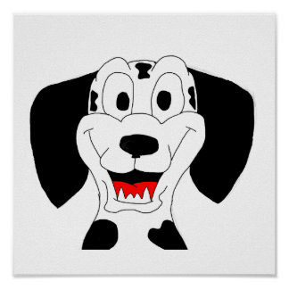 Dalmatian design cards and paper products poster