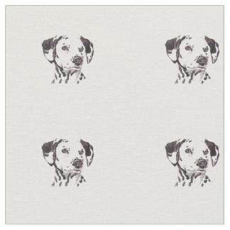 Dalmatian Dog Art Fabric