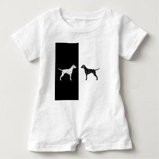 Dalmatian dog baby romper