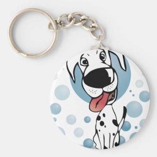 Dalmatian dog basic round button keychain