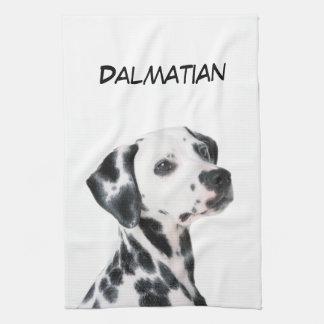 Dalmatian dog beautiful photo, gift kitchen towel