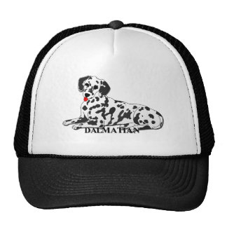 Dalmatian Dog Cartoon Mesh Hats