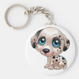 dalmatian dog cartoon keychain