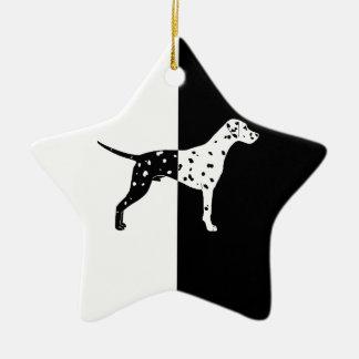 Dalmatian dog ceramic ornament
