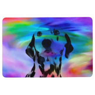 Dalmatian Dog Colorful Water Color Splash Art Port Floor Mat