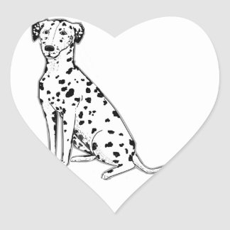 Dalmatian Dog customizable products Heart Sticker