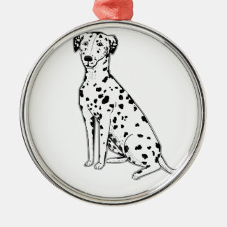 Dalmatian Dog customizable products Silver-Colored Round Ornament