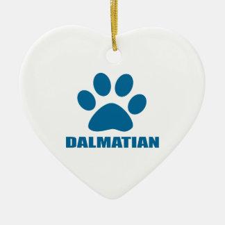 DALMATIAN DOG DESIGNS CERAMIC ORNAMENT