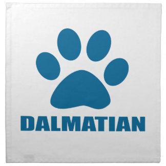 DALMATIAN DOG DESIGNS NAPKIN