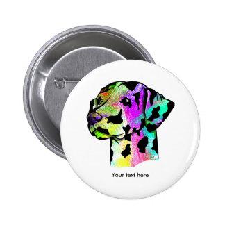 Dalmatian Dog Head 2 Inch Round Button
