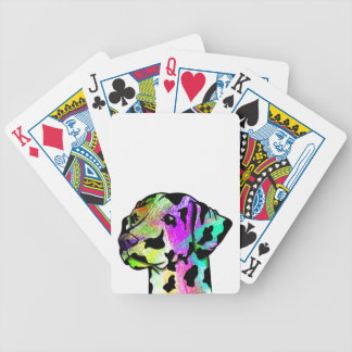Dalmatian Dog Head Bicycle Playing Cards