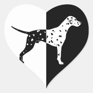 Dalmatian dog heart sticker