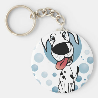 Dalmatian dog keychain