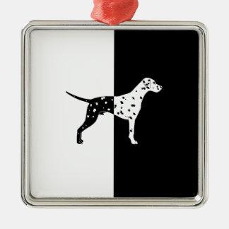 Dalmatian dog metal ornament