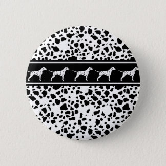 Dalmatian dog pattern 2 inch round button