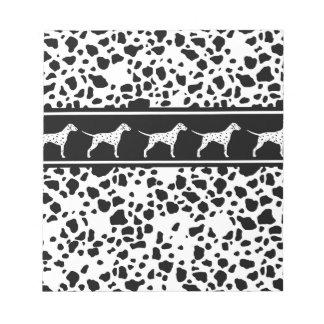 Dalmatian dog pattern notepad
