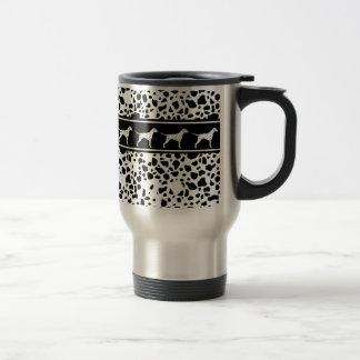 Dalmatian dog pattern travel mug