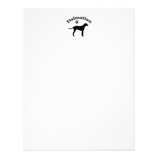 Dalmatian dog pawprint silhouette letterhead