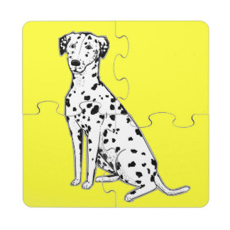 Dalmatian Dog Puzzle coasters Puzzle Coaster