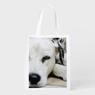 Dalmatian Dog Reusable Grocery Bags