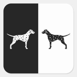 Dalmatian dog square sticker