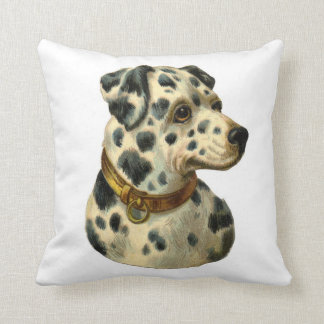 Dalmatian Dog Vintage Pillow