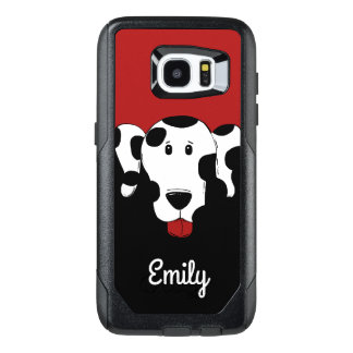 Dalmatian Dog with Name Monogram OtterBox Samsung Galaxy S7 Edge Case