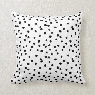Dalmatian Dots Throw Pillow