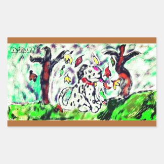 Dalmatian fall art sticker