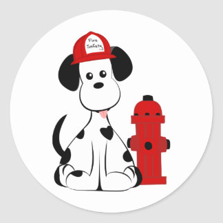 Dalmatian Fire Dog Round Sticker