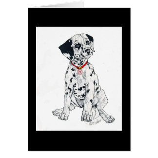 Dalmatian, firehouse staple card