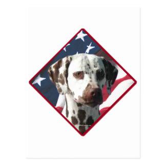 Dalmatian Flag 2 Postcard